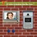"""7 """" монитор видео-телефон двери интерком дверной звонок 2 удостоверение личности разблокировка дверной звонок домофон видео-телефон двери камеры видео контроля доступа"""