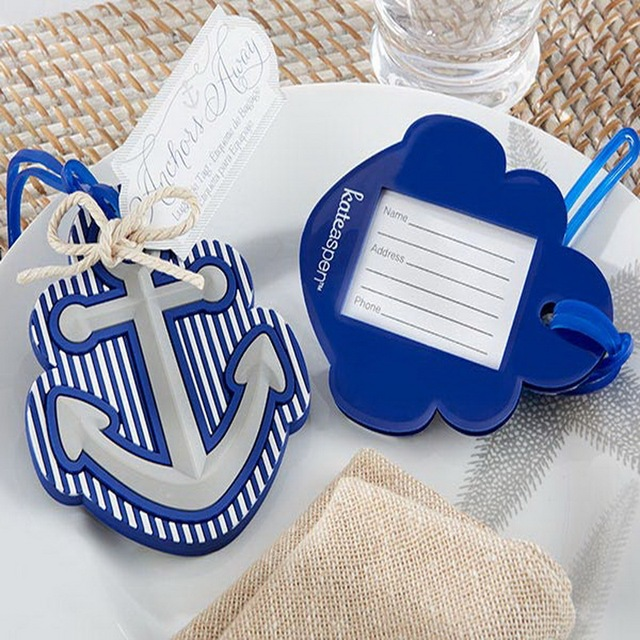 156daadb6 FREE SHIPPING(10pcs Lot)+Ocean Themed Wedding Gift Rubber Anchor Luggage  Tag Favors Bridal Shower Party Giveaway For Guest