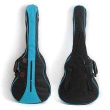 "2016 New Protective 600D Oxford Cloth 36"" Backpack Big Bag Carry Case For Ukulele Acoustic Guitar Durable Black+Blue"