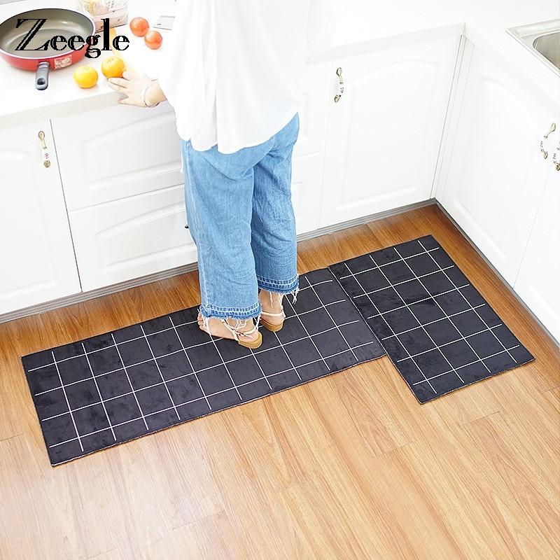 Lattice Printed Corridor Mats Home Doormats Indoor Non-slip Kitchen Mats Bathroom Bath Rugs Soft Carpets For Bedroom Parlor Mats