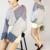 {XITAO} 2017 nova Primavera Coréia personalidade vento cor listrado feminino jean patchwork batwing manga V colarinho da camisa pullover RSJ009