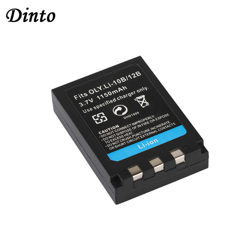 Dinto 1 шт. 1150 мА/ч, Li-10B Li10B Li ion аккумулятор 10B Li-12B Li12B Li ion аккумулятор 12B Перезаряжаемые Батарея для цифровой камеры Olympus FE-200 IR-500 X-1 X-2 X-3 C-760