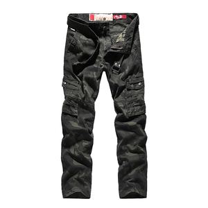 Image 3 - Mens Autumn Cargo Pants Men Camouflage Military Pants Casual Loose Comfortable MultiPocket Trousers Camo Joggers Cotton Flexible