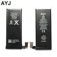 AYJ 10 adet/grup AAAAA Kalite Pil iphone 4 4G Yedek Kapasiteli Tam 1420 mAh 100% Yeni Cep 0 sıfır Döngüsü