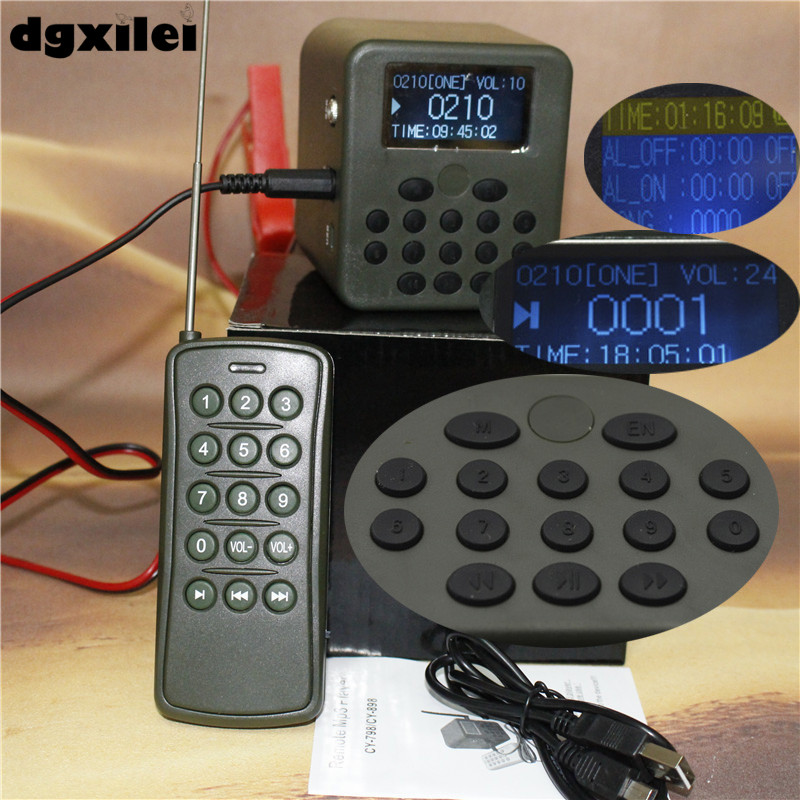cheapest hunting game call 50w 150dB bird voice mp3 with remote control xilei outdoors quail audio devices 50w 150db remote control 798b hunting bird with timer
