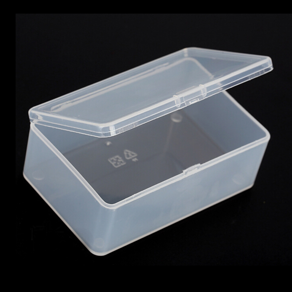 1pc Store Small Clear Plastic Transparent With Lid Storage