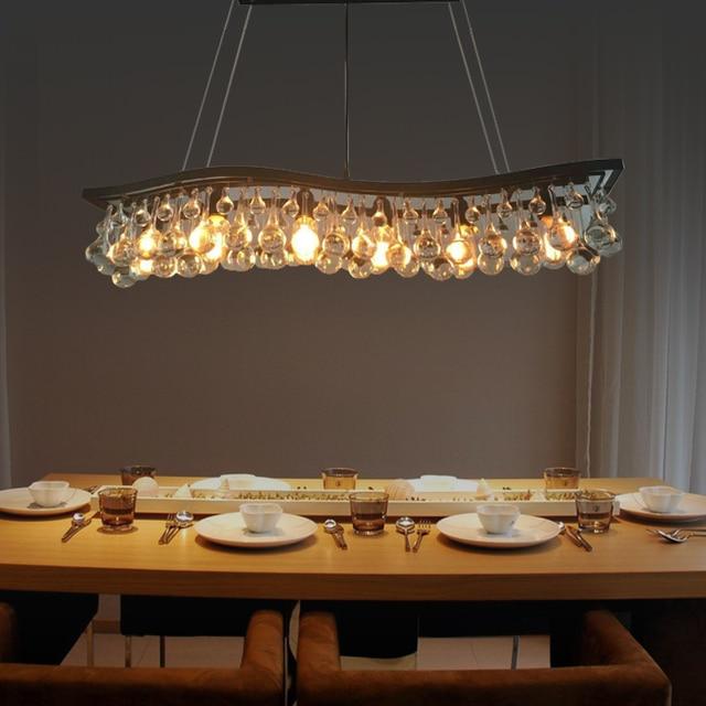 European-style modern chandelier lamp chandelier crystal iron chandelier American Vintage  Nordic restaurant bar  home lighting