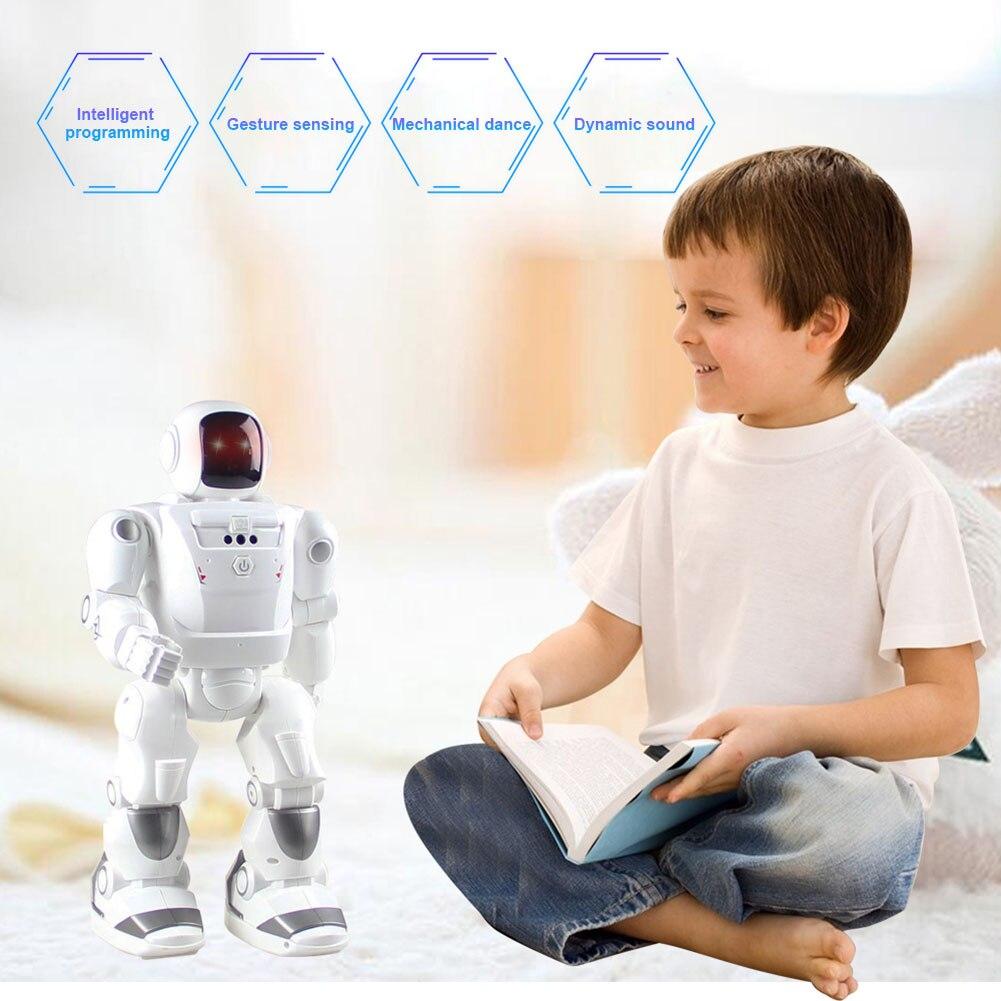 Robot intelligent jouet télécommande ensemble batterie alimenté musique danse Robots enfants enfants cadeau YH-17