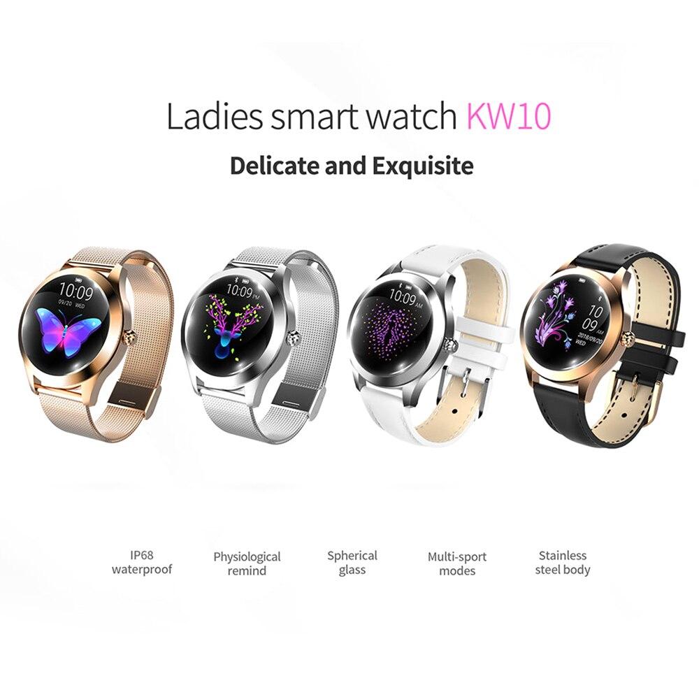 Offre spéciale étanche montre intelligente femmes surveillance de la fréquence cardiaque Bluetooth Fitness Tracker Bracelet Smartwatch pour Android IOS