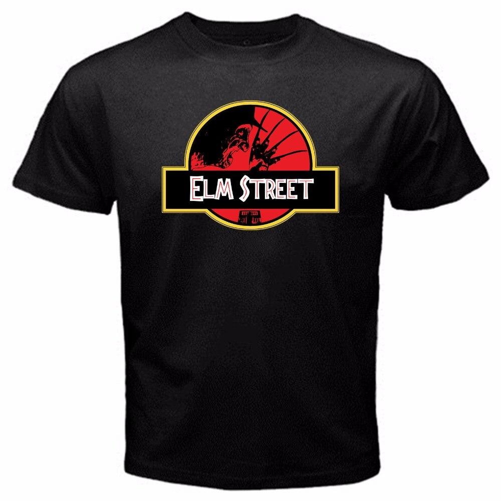 Elm Street Freddy Friday The 13Th Halloween Myers Classic Movie T-Shirt Black Print T Shirt Mens Short Sleeve Hot