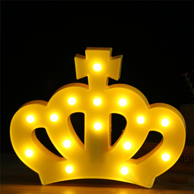diy led night light glass jar 3d led night light plastic lamp crown sign for home party wedding decoration