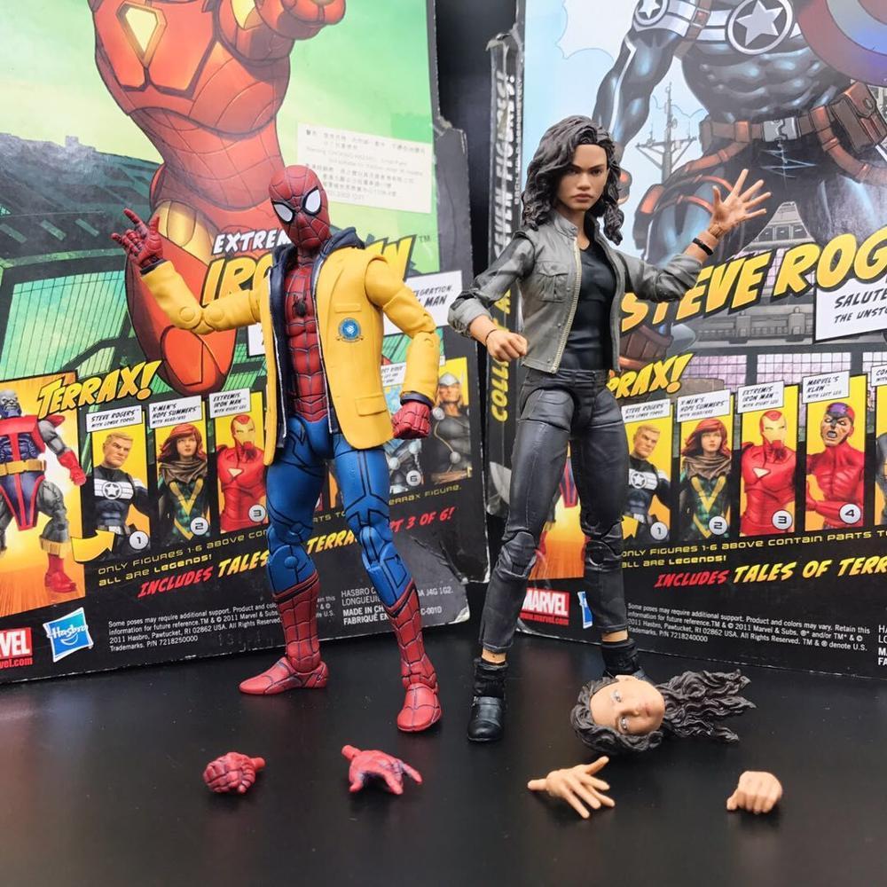 "Marvel Legends Jackted Spiderman i Michelle Jones powrót do domu 2 pack cel 6 ""luźne rysunek w Figurki i postaci od Zabawki i hobby na  Grupa 1"