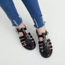 bc4a0953157fdc Summer Women Sandals Fashion Jelly Sandals Retro Crystal Plastic Non-Slip  Hasp Flat Shoes Ladies