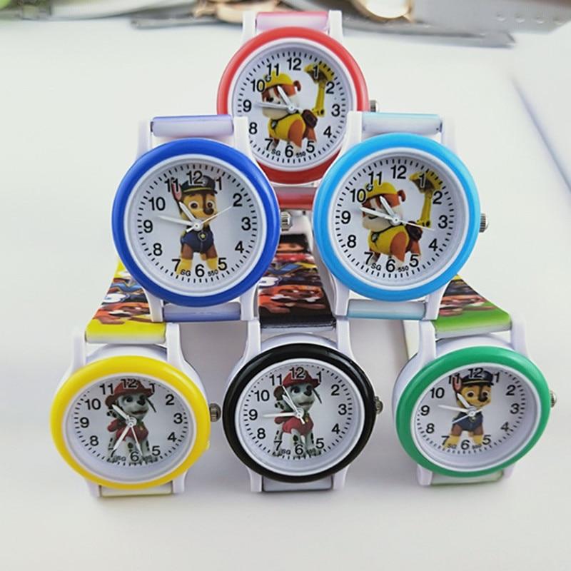 Silicone Children's Watch New Pop Boy Girl Child Quartz Wristwatches Fashion Cartoon Puppy Team Baby Kids Student Watches Gifts