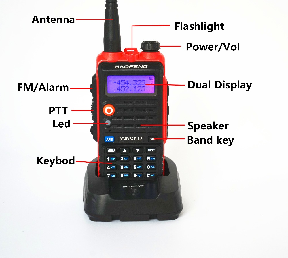 Image 3 - BaoFeng UV B2 Plus 8W High Power FM Transceiver 4800mah Battery BF UVB2 Plus for CB Radio Mobile Radio UVB2 Walkie Talkie Uv b2-in Walkie Talkie from Cellphones & Telecommunications