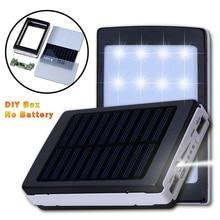 Универсальный 5 В PCBA Материнская Плата Solar Power Bank Дело СДЕЛАЙ САМ Box Dual USB с 20 Шт. LED 5×18650 солнечная Powerbank DIY KIT