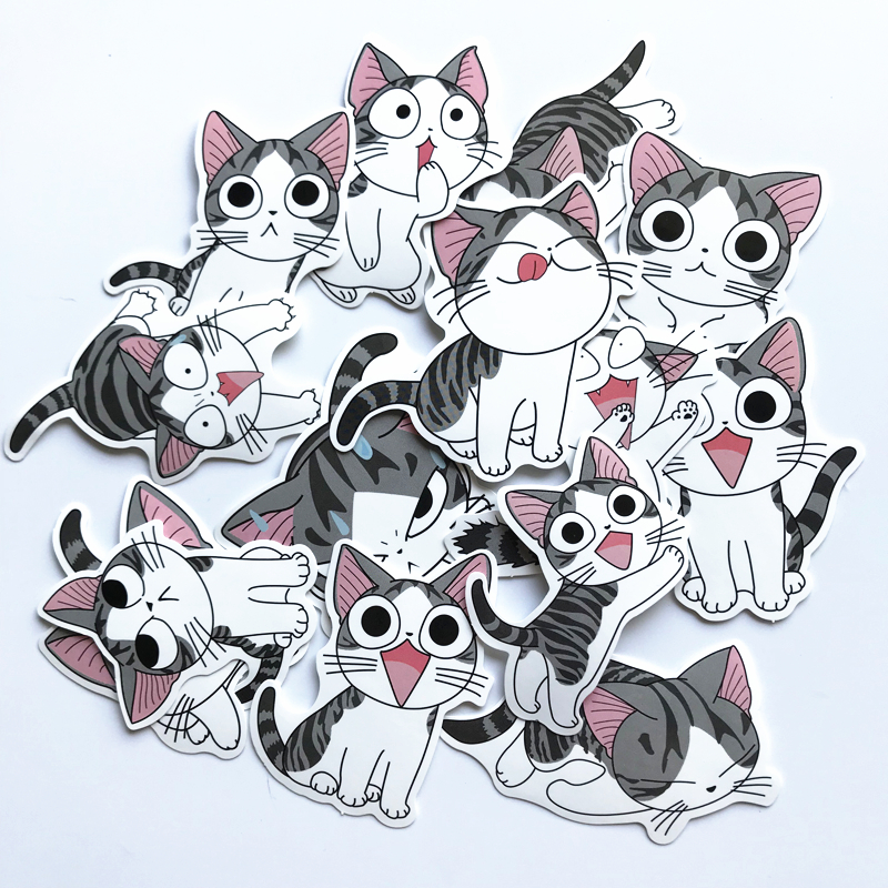 TD ZW 14Pcs/Lot Chi's Sweet Home Stickers For Decal Snowboard Laptop Luggage Car Fridge Car- Styling Sticker Pegatina