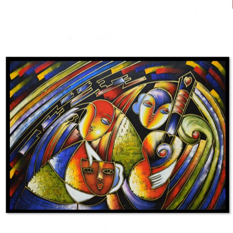 Lukisan terkenal di dunia, Picasso lukisan abstrak, Wanita bermain - Dekorasi rumah - Foto 4