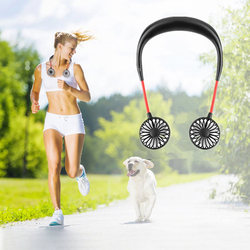 2000 mAre USB Portable Fan Hands-free Neck Fan Hanging Charging Mini Portable Sports Fans 3 gears Usb Air Conditioner