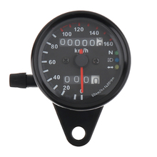 Motorcycle Speedometer Odometer 12V Dual Speed Meter with LED Indicator Code