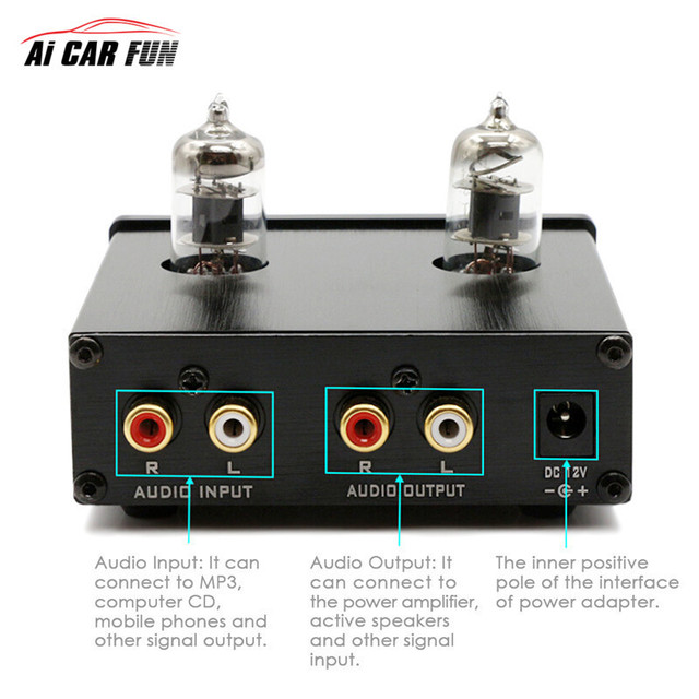US $29 31 13% OFF|Digital Car Amplifier Sound Matching Wonder TUBE 01  Without Power Adapter audio Pre Amplifier 6J1 Tube Stereo HiFi Buffer  Preamp-in