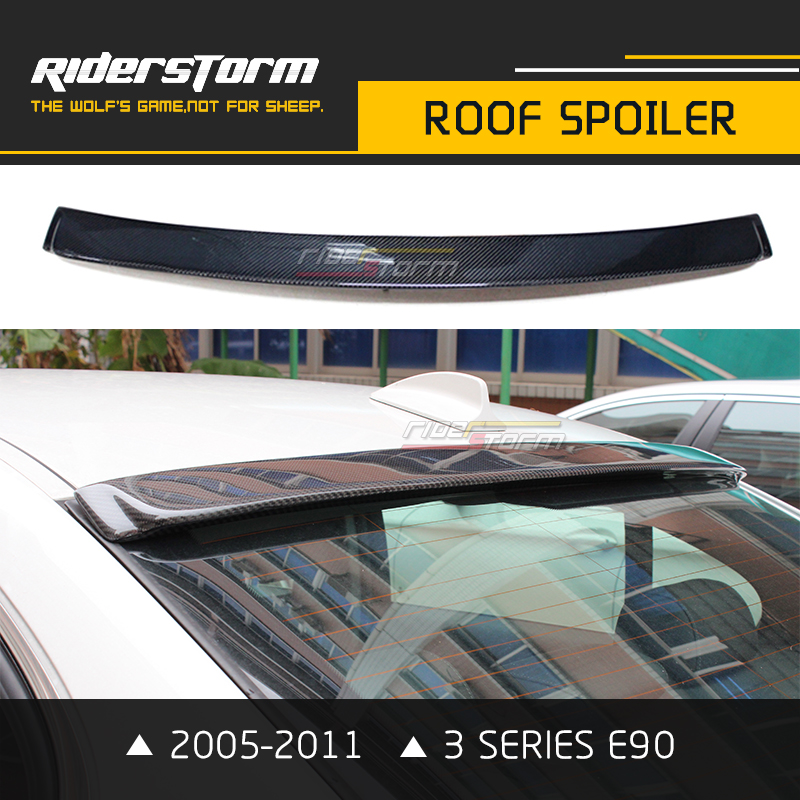 Carbon Fiber E90 AC Style Roof Spoiler Wing Lip For Bmw 3 Series 318i 320i 325i 330i 2005-2011 Sedan Car Styling m4 style e93 carbon fiber rear wing spoiler for bmw e93 convertible 3 series 2005 2011 racing car styling tail trunk lip wing
