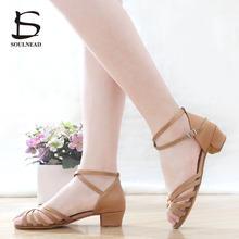 2a9191a87374 New Ballroom Tango Latin Dance Shoes High Quality Latin Woman Dancing Shoe  Wholesale Dance shoes for girls Low Heel Salsa Sandal