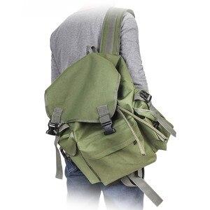Image 3 - 70L Multifunctional Army Green Large Capacity Canvas Carp Fishing Bag Fishing Tackle Backpack