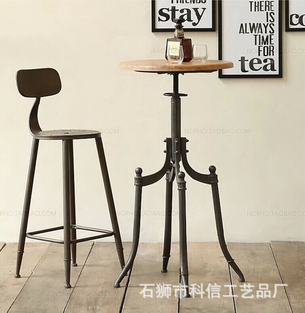 American retro wood to do the old wrought iron bar stools and chairs casual coffee bar & American retro wood to do the old wrought iron bar stools and chairs ...