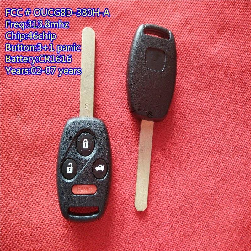 Fits Honda OUCG8D-380H-A OEM 3 Button Key Fob