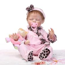 20″ Silicone Reborn Baby Realistic Sleeping Girl Doll Kids Playhouse Toys Shooting Model Decorations