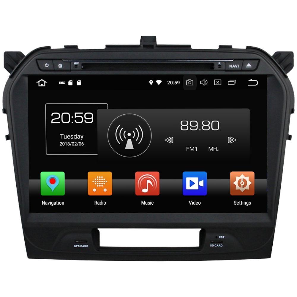 Double 2 din Android 8.0 Octa core 4GB RAM 32GB ROM GPS Navi Stereo Car Radio Digital Bluetooth for Suzuki Vitara 2015