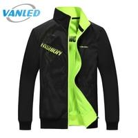 4XL 5XL Plus Size 2017 New Brand Jacket Male Spring Autumn Zipper Double Surface Jacket Men