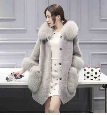 New Women's Fashion Fluffy Fluffy Faux Fur Warm Winter Jacket Cardigan Bomber Jacket Ladies Jacket Single breasted Jackets