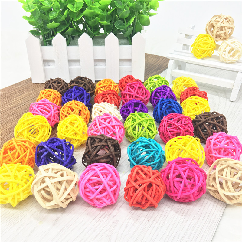 20pcs Rattan Wicker Cane  Balls for Garden Patio Wedding Party Home Decoration