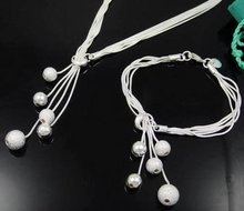 Wholesale fashion jewelry Set, 925 Silver Necklace and Bracelet . Nice Jewelry. Good Quality S24