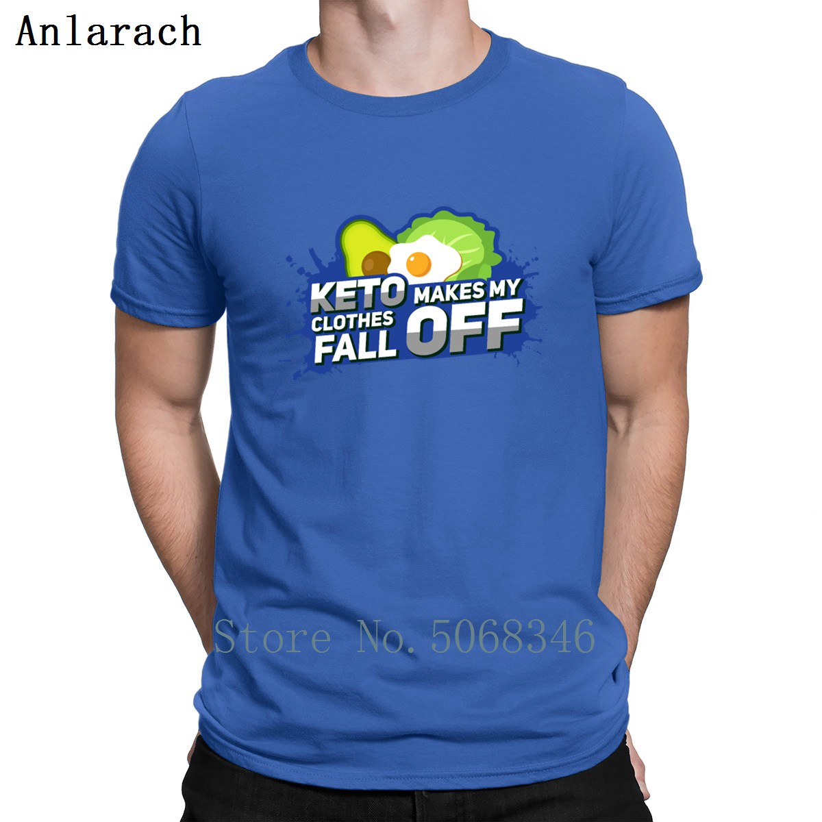 Keto Makes My Clothes Fall Off Ii Gift T Shirt Casual Spring Autumn Letter Round Neck Fitness Cotton Design Pictures Shirt