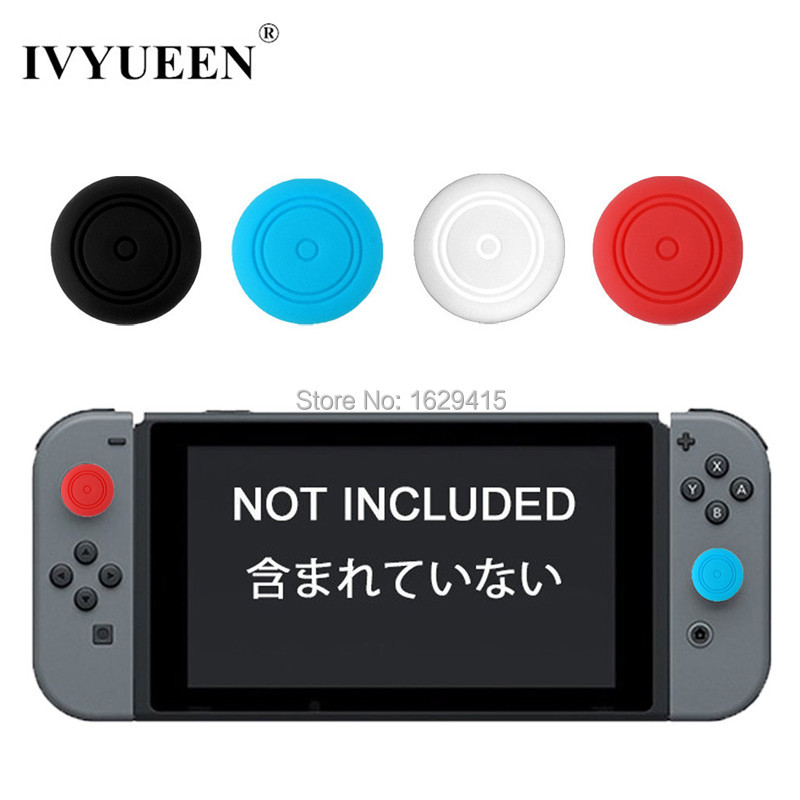 IVYUEEN 4 Silicone Thumb Stick Caps Gel Guards For Nintend Switch Joy-Con Controller Joystick Grips Game Accessories