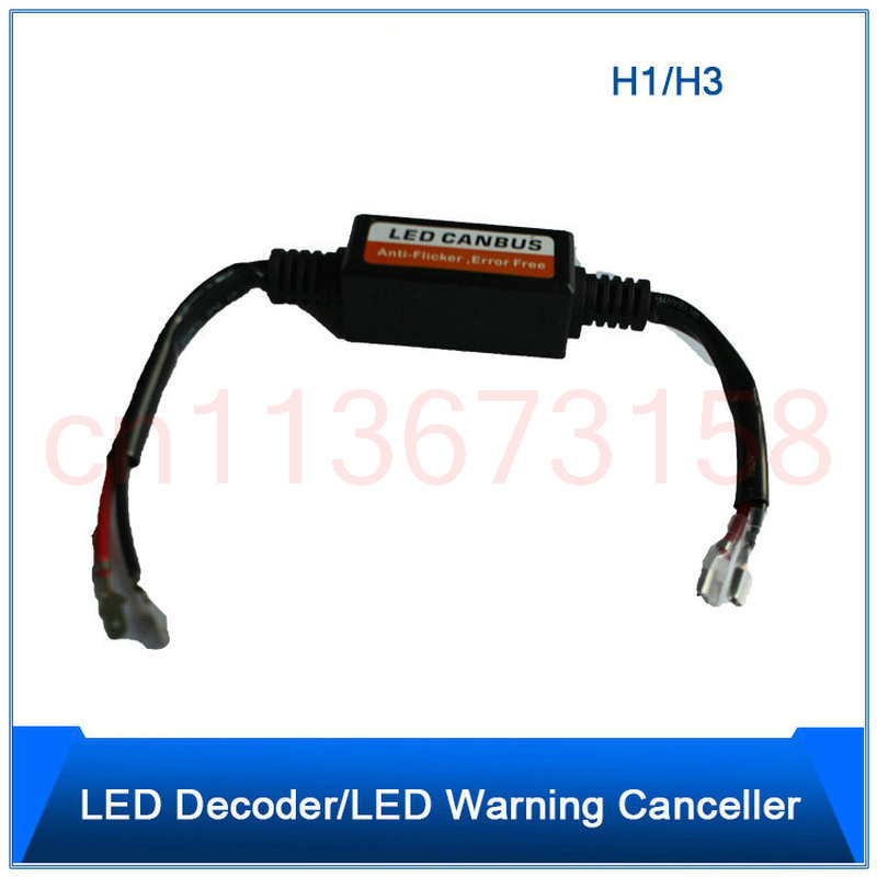 Frete Grátis 2 pc H1 H3 farol Do Carro decoder Resistor Canceller Decodificadores Canbus Do Carro-styling Anti Flicker Para LED faróis etc