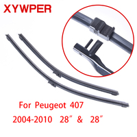 "XYWPER Wiper Blades for Peugeot 407 2004 2005 2006 2007 2008 2010 28""+28""Car Accessories Soft Rubber Car Windshield Wiper blades