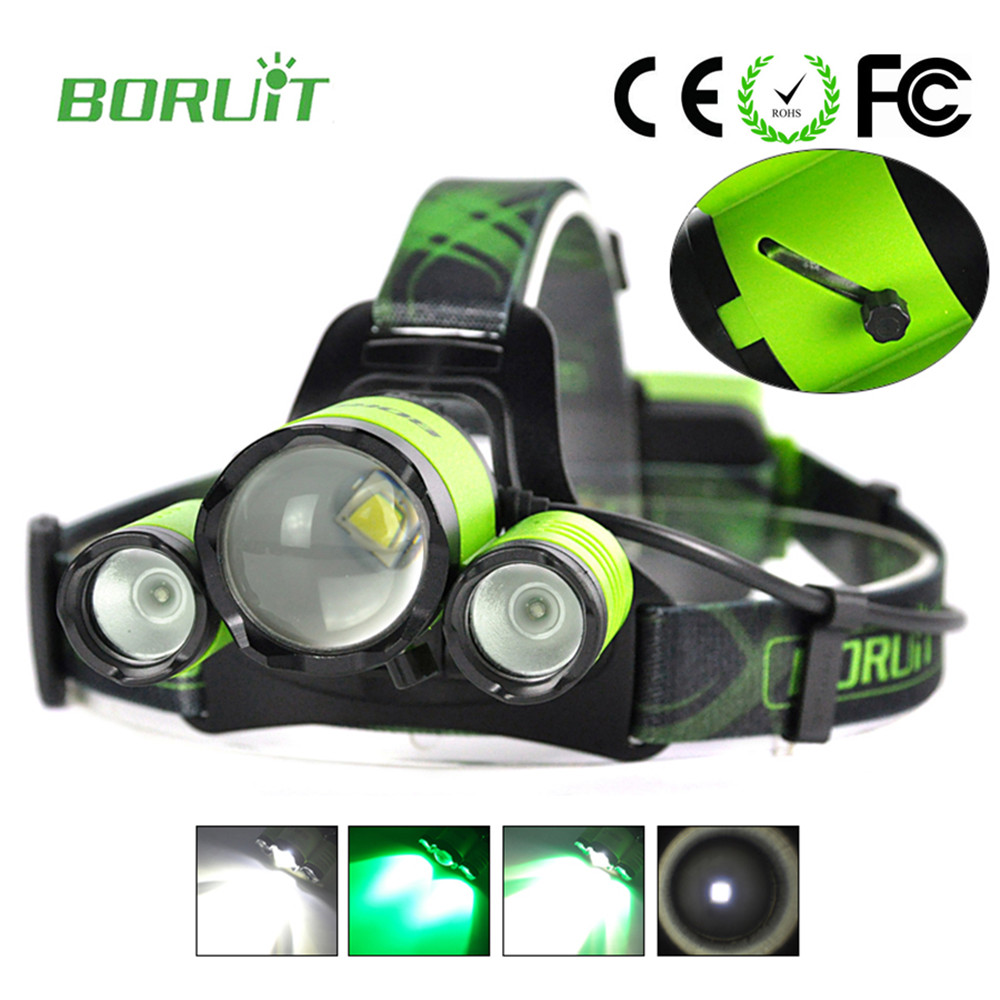 Boruit Searchlight for hunting Lantern on the forehead ...