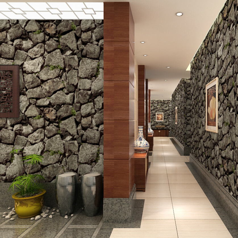 Vintage 3d Stone Wall Paper Waterproof PVC Contact Wallpaper for Living Room Vinyl Wood Wallpaper Rolls for Wall Home Decor junran america style vintage nostalgic wood grain photo pictures wallpaper in special words digit wallpaper for living room