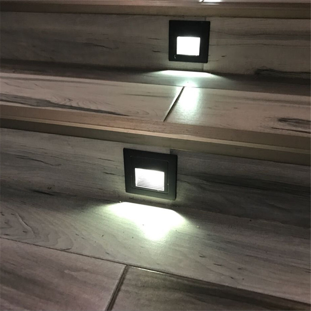 3W Led Footlight Embedded Corner Lamp Outdoor Step Stair Lights Waterproof  Recessed Underground Buried Lamps In LED Indoor Wall Lamps From Lights U0026  Lighting ...