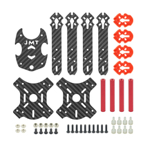 JMT 205mm J205 3mm Arm Carbon Fiber Frame Kit X Structure 4-Axis for Freestyle DIY RC Quadcopter Mini Drone FPV недорго, оригинальная цена