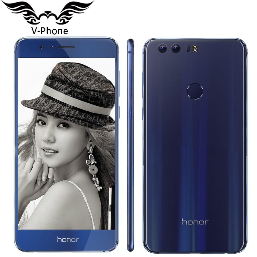Original Huawei Honor 8 4G LTE 5 2 FHD 1920 1080 Mobile Phone MTK6592 Octa Core