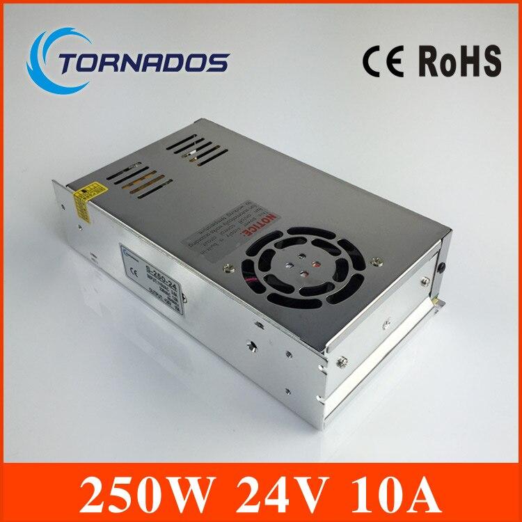 Qualité assurée S-250-24 alimentation 240 w 24 V 10A alimentation 24 v 240 w ac à dc unité d'alimentation ac dc convertisseur