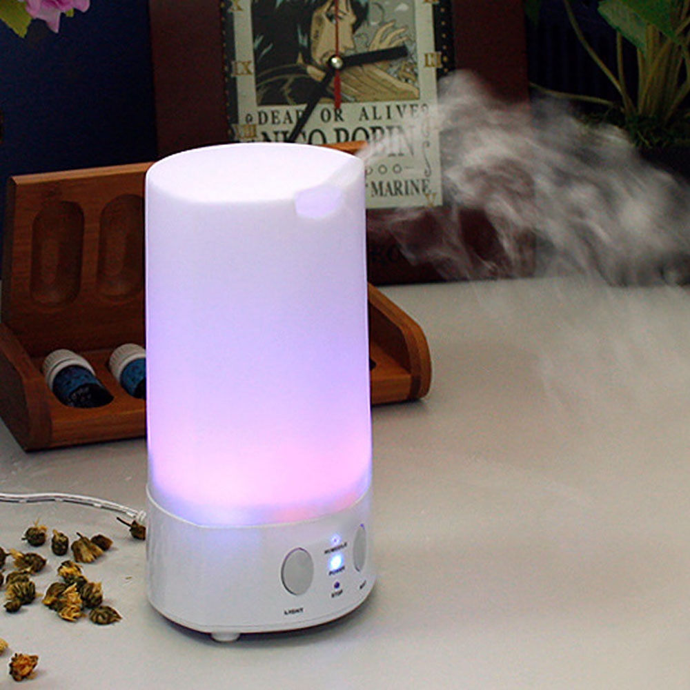 New Colorful LED Night Light Air Humidifier Ultrasonic Essential Oil Aroma Diffuser Aromatherapy Home Office Mist Maker Fogger 500ml usb air humidifier essential oil diffuser mist maker fogger mute aroma atomizer air purifier night light for home