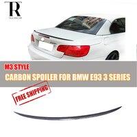 E93 Кабриолет углеродного волокна заднего крыла Спойлер для BMW E93 320 325 328 330 335 M3 2005 2006 2007 2008 2009 2010 2011