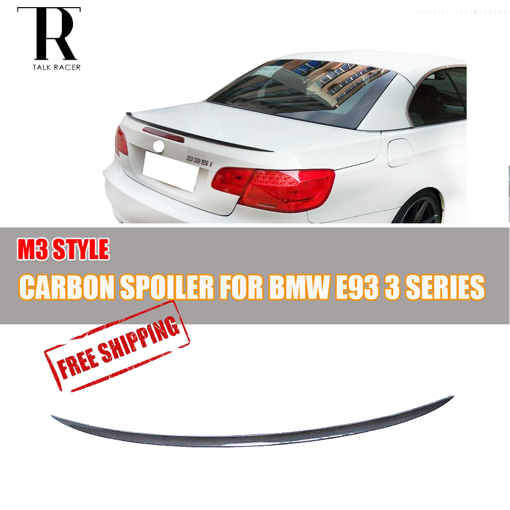 E93 Convertible Carbon Fiber Rear Lip Wing Spoiler for BMW E93 320 325 328 330 335 M3 2005 2006 2007 2008 2009 2010 2011