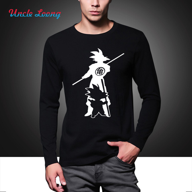 autumn Japan anime Dragon Ball Z T Shirt Super Saiyan men Son Goku Tees Tops Men long sleeve fashion casual Clothes Plus size